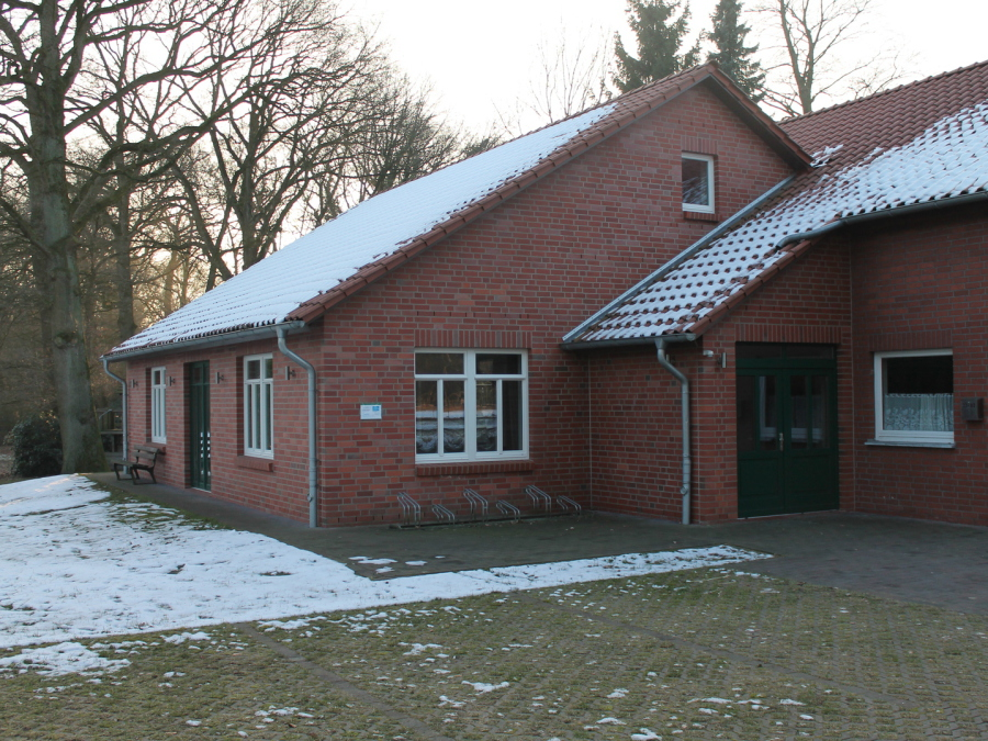 """Der Eingang des """"Höper Hus"""", welchen frisch renoviert ist."""