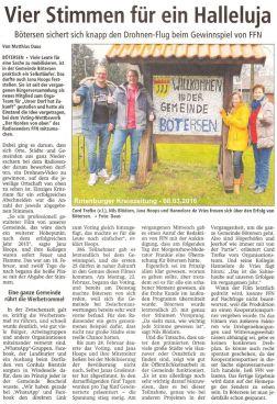 Rotenburger Kreiszeitung vom 08.03.16