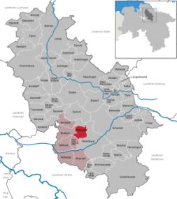 Lage der Gemeinde Bötersen