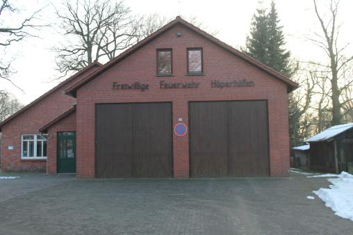 Das Feuerwehrhaus der freiwilligen Feuerwehr Höperhöfen